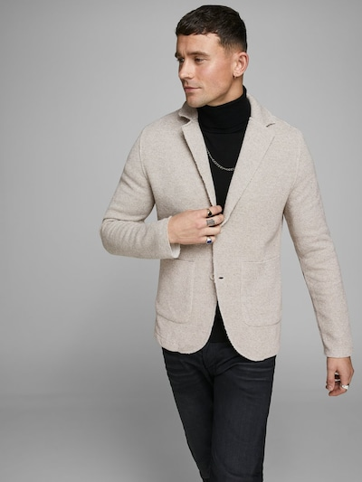 JACK & JONES Sweatblazer in grau: Frontalansicht