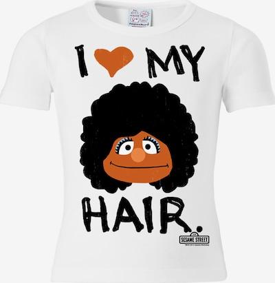 """LOGOSHIRT T-Shirt """"I Love My Hair"""" in dunkelorange / schwarz / weiß, Produktansicht"""