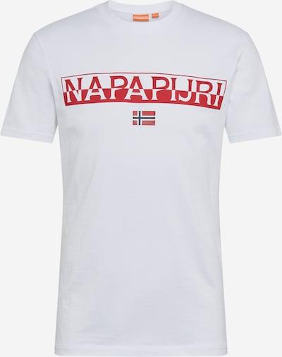 NAPAPIJRI Shirt 'SARAS SOLID' in weiß, Produktansicht