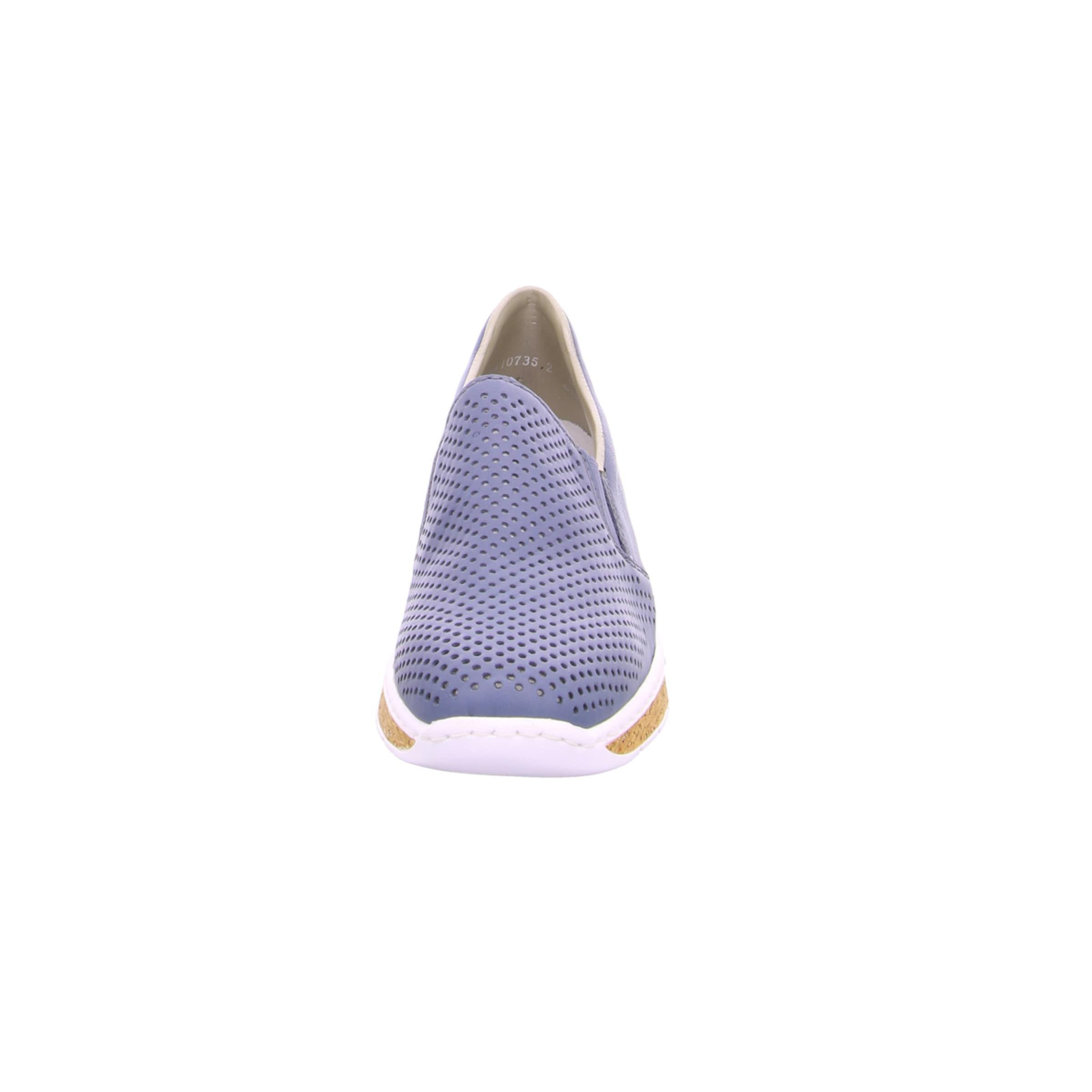 RIEKER Slipper in violettblau