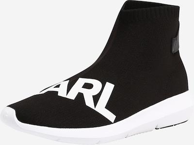 Karl Lagerfeld Slipon 'VITESSE Legere Knit Karl Prt' in schwarz / weiß, Produktansicht