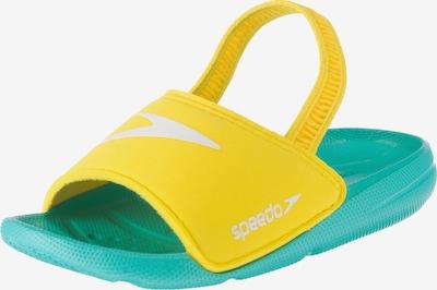 SPEEDO Badelatschen 'Atami Sea Squad' in türkis / gelb, Produktansicht