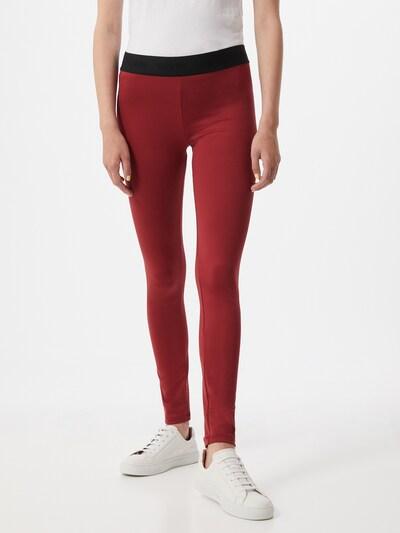 HUGO Pantalon 'Delessie' en rouge / noir: Vue de face