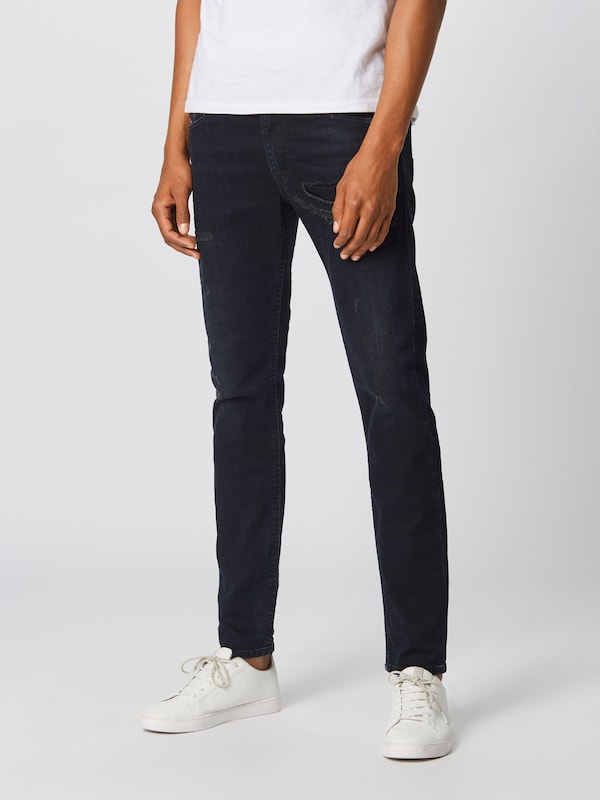 DIESEL Jeans 'Thommer' in black denim: Frontalansicht