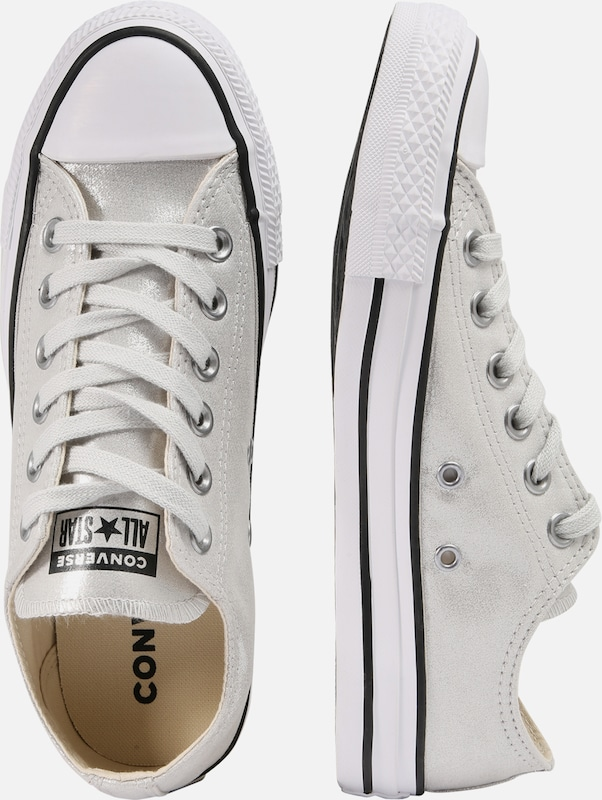 7aff5155138 Ox' Laag Zilver All 'chuck Taylor In Wit Star Sneakers Converse YUq5fp