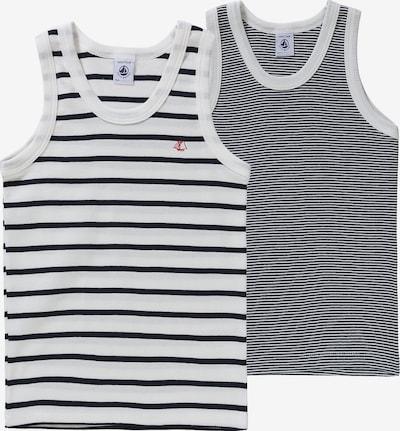 PETIT BATEAU Unterhemd in blau / weiß, Produktansicht