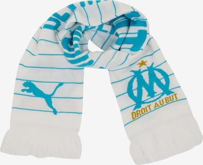 PUMA Schal 'Olympique Marseille' in hellblau / weiß, Produktansicht
