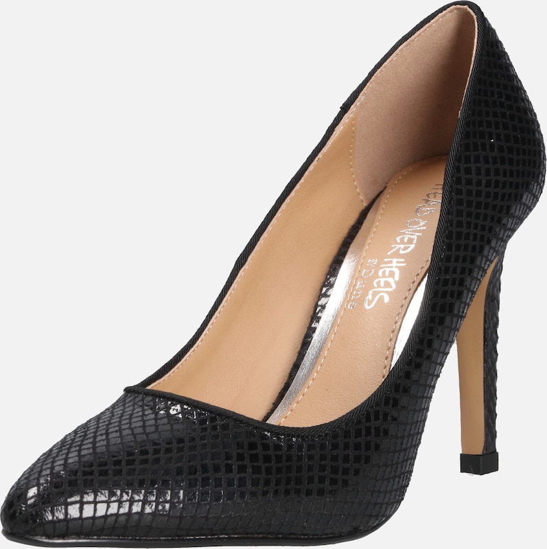 En Head Escarpins Noir Over 'alexxa' Heels IHED29