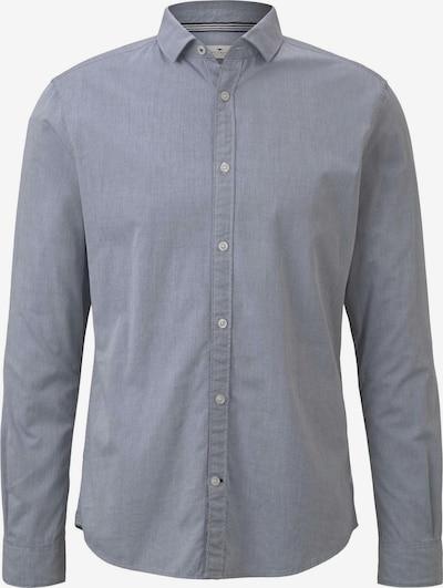 TOM TAILOR Blusen & Shirts Strukturiertes Hemd in navy / dunkelgrau, Produktansicht