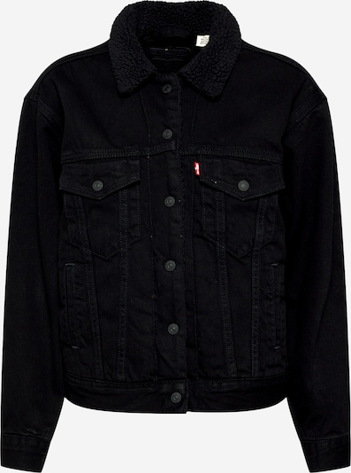 LEVI'S Jeansjacke 'EX-BF SHERPA TRUCKER' in schwarz, Produktansicht