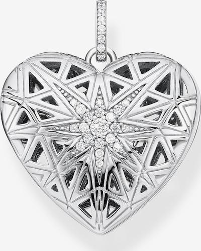 Thomas Sabo Kettenanhänger 'Herz Medaillon Stern' in silber, Produktansicht