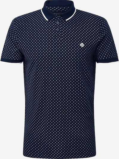 TOM TAILOR DENIM Poloshirt in schwarz / weiß, Produktansicht