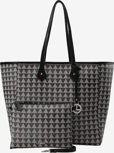 L.CREDI Shopper 'Eve' in grau / schwarz, Produktansicht