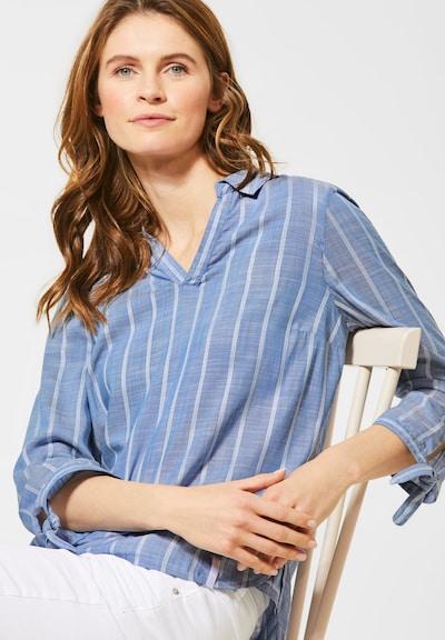 CECIL Bluse mit Streifenmuster in blau / weiß, Modelansicht