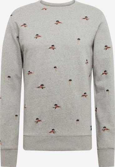 Superdry Sweatshirt in hellgrau / koralle / rot / schwarz, Produktansicht