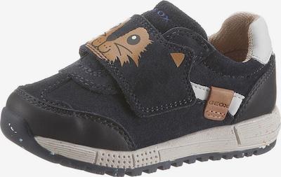 GEOX Kids Sneaker in navy / braun / weiß, Produktansicht