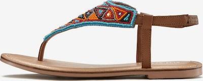 LASCANA Sandale in hellblau / braun / orange / rot / schwarz, Produktansicht