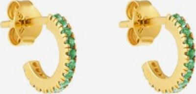 ID Fine Boucles d'oreilles 'Simplicity' en or / vert clair, Vue avec produit