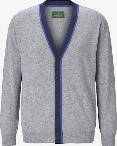 Charles Colby Strickjacke 'Payton' in blau / grau, Produktansicht