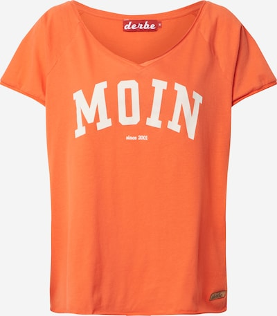 Derbe T-Shirt 'Favorite' in orange / weiß, Produktansicht