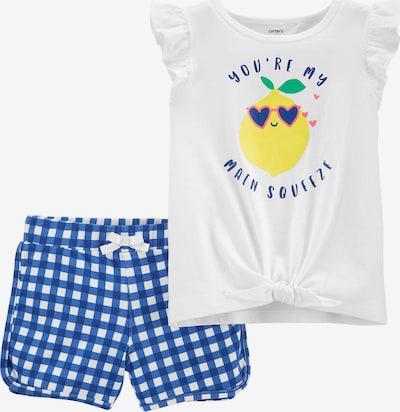 Carter's Set T-Shirt + Sweatshorts in blau / himmelblau / gelb / pink / weiß, Produktansicht