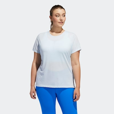 ADIDAS PERFORMANCE T-Shirt 'Go To' in hellblau / weiß: Frontalansicht
