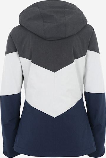 O'NEILL Sportjacke 'Coral' in nachtblau / grau / weiß: Rückansicht
