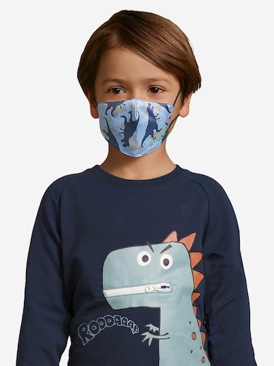 DELICATELOVE Stoffmasken  'Dino ' in navy / hellblau: Frontalansicht