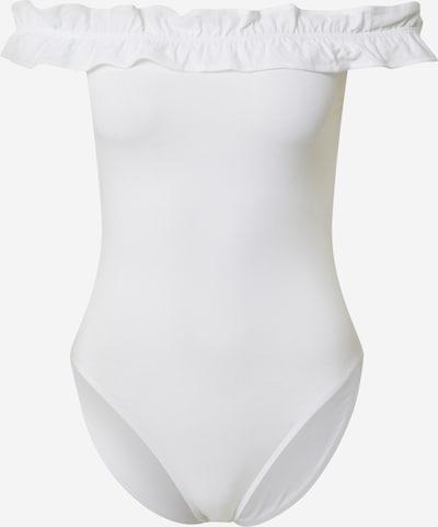 Miss Selfridge Bodytop 'RUFFLE BARDOT BODY' in weiß, Produktansicht