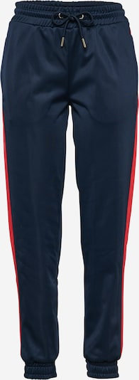 Urban Classics Stoffhose 'Cuff Track' in navy / rot: Frontalansicht