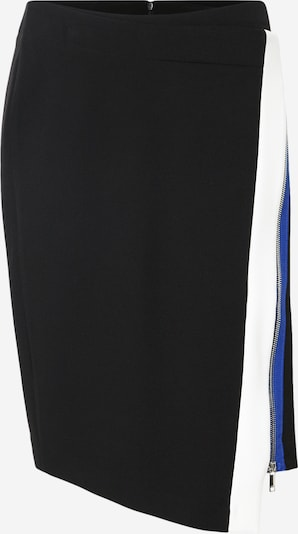 DKNY Rok 'COLORBLOCK PENCIL SKIRT W/ COLORBLOCK ZIP DETAIL' in de kleur Blauw / Zwart / Wit, Productweergave