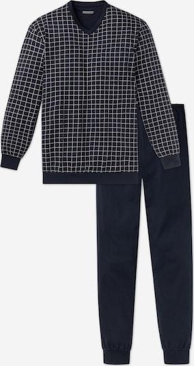 Pijama lungă SCHIESSER pe albastru închis / alb, Vizualizare produs