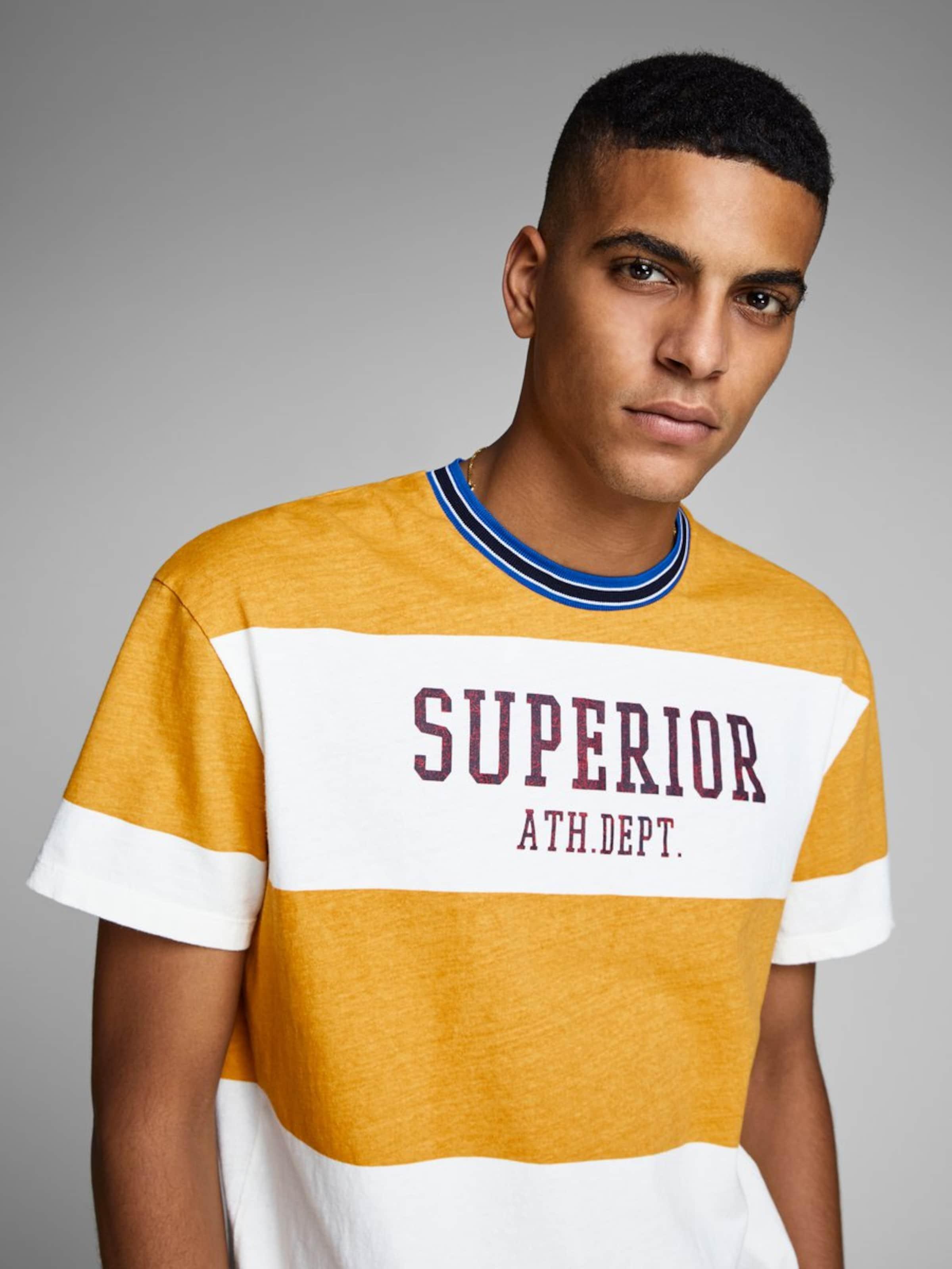 T Jackamp; shirt Schwarz BlauBraun Jones In Honig Weiß On8w0Pk