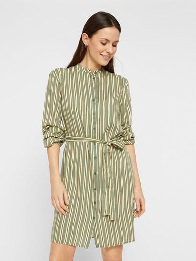 PIECES Schnürbund Blusenkleid in dunkelgrün, Modelansicht