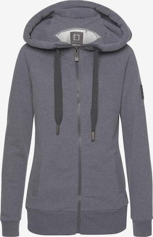Elbsand Zip-Up Hoodie 'Kria' in Grey