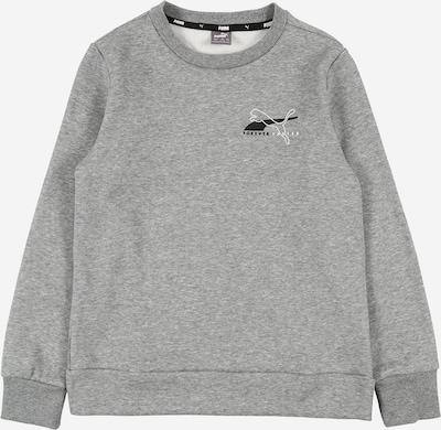 PUMA Sport-Sweatshirt 'Alpha' in grau / schwarz / weiß: Frontalansicht