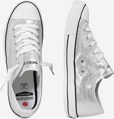 Dockers by Gerli Sneaker mit Metallic-Look in silber / weiß: Seitenansicht