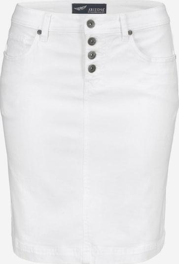 ARIZONA Jeansrock mit Knopfleiste in weiß, Produktansicht