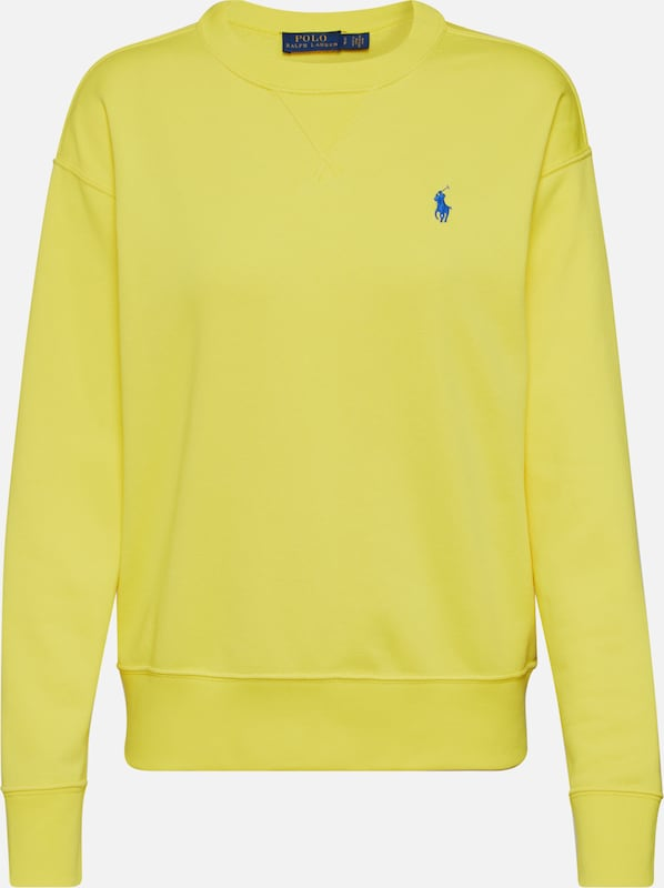 POLO RALPH LAUREN Sweatshirt 'LS PO-LONG SLEEVE-KNIT' in de kleur Geel, Productweergave
