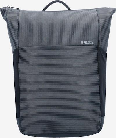 SALZEN Rucksack 'Plain' in graumeliert / schwarz, Produktansicht