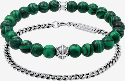 KUZZOI Armband Basic Armband, Kugel in grün / silber, Produktansicht