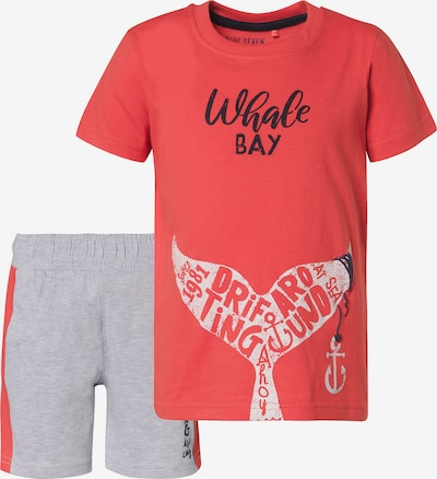 BLUE SEVEN Set T-Shirt+Shorts in rot, Produktansicht