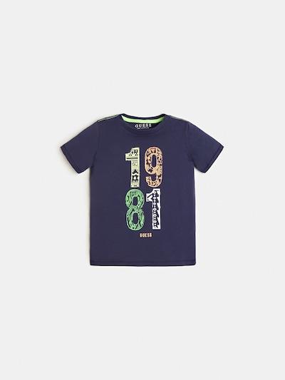 GUESS KIDS Guess Kids LOGO T-SHIRT in blau, Produktansicht