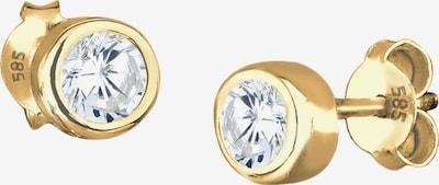 ELLI PREMIUM Ohrringe in gold / weiß, Produktansicht