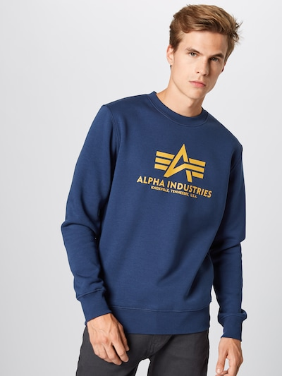 ALPHA INDUSTRIES Sweat-shirt en bleu marine: Vue de face