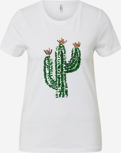 ONLY T-shirt 'KITA' en vert / blanc, Vue avec produit