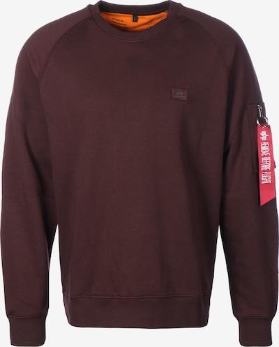 ALPHA INDUSTRIES Sweater in weinrot, Produktansicht