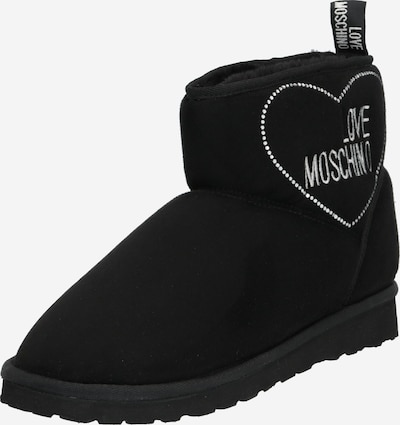 Love Moschino Snow boots 'WINTER LOVE' in Black / White, Item view
