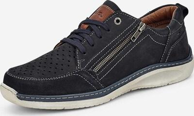 ARA Sportlicher Schnürschuh in nachtblau / karamell, Produktansicht