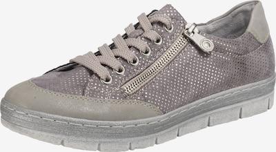 RIEKER Sneaker in grau / taupe / flieder: Frontalansicht
